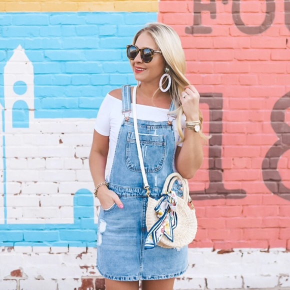 c9f9c680a2 Forever 21 Dresses | Distressed Denim Overall Dress Nwt Trending ...